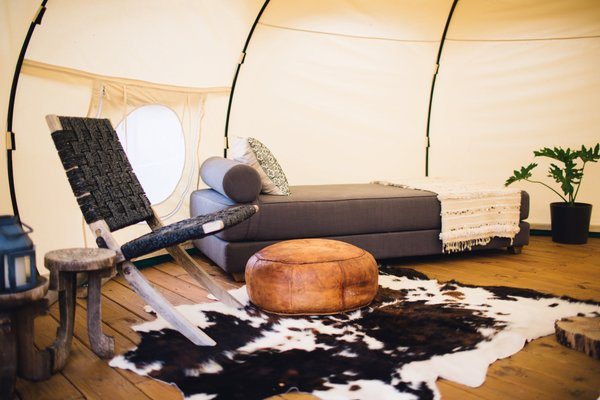 Both yurts are completely furnished with everything you'll need including welcoming furniture and warm, comfortable textures.