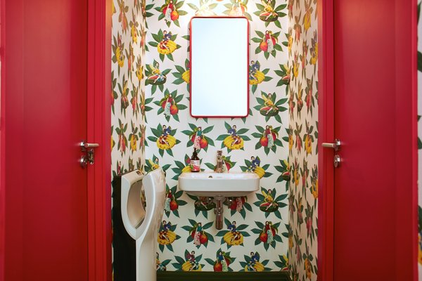 Each of the wallpapered bathrooms are equipped with rosemary and olive oil soap, as well as oat and bergamot shampoo from Las Lilas. By creating her own biodynamic process, Ana Gayoso uses herbs and plants that she grows in her own garden in Alt Empordà, a mountainous area outside of Barcelona.