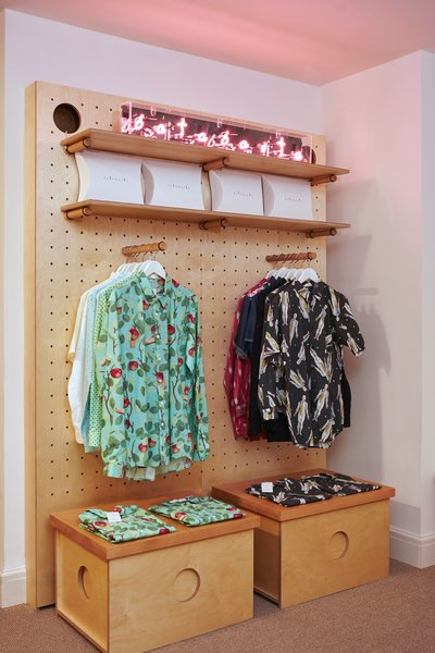 Topping off the hotel amenities is BaTabasTa, a shop that was founded in Shanghai by Clara Arnús and Leti Cano. Located in the reception area, you'll find printed shirts—some of which feature patterns that can be found throughout the rest of the hotel.