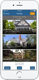 The App That Puts You in Charge When Searching for a Home - Photo 1 of 3 - When you open Nook's new Search with Style app, you're given the option to look for properties in your area with a radius search, or fill out a classic search form. Both directions lead to a list of thousands of MLS results—standing for Multiple Listing Service (example shown here). The page scrolls continuously with properties until you decide to filter your search to match the architectural style of your choice.