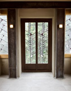 Iconic Perspectives: Frank Lloyd Wright's Hollyhock House - Photo 12 of 13 - The Hollyhock House was one of the last residences where Wright designed a comprehensive art glass window scheme that's carried throughout the residence. Throughout the property, there are 130 examples of this.