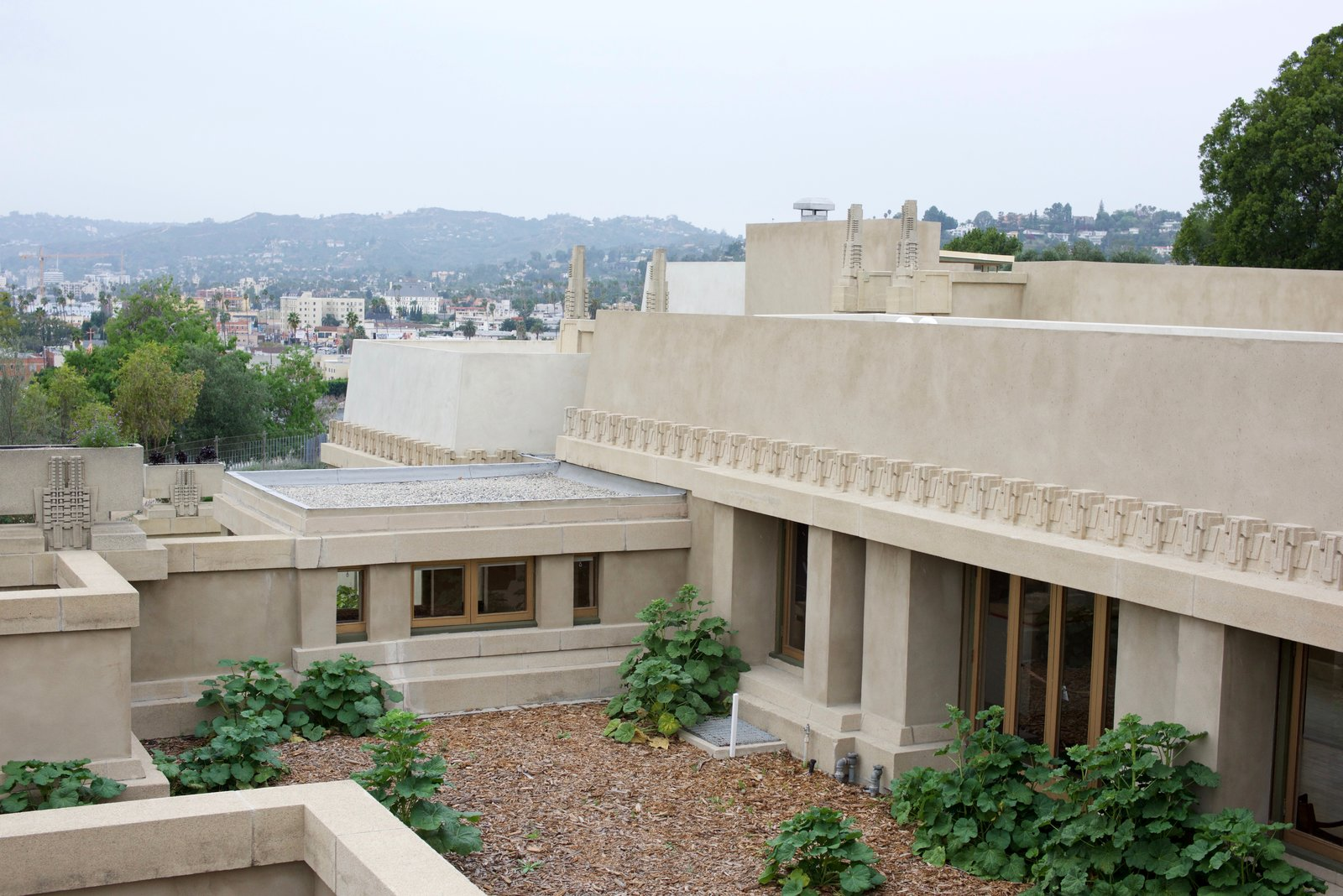Tagged: Exterior, House, and Stucco Siding Material.  Photo 8 of 10 in 10 Modern Iconic Masterpieces from Iconic Perspectives: Frank Lloyd Wright's Hollyhock House