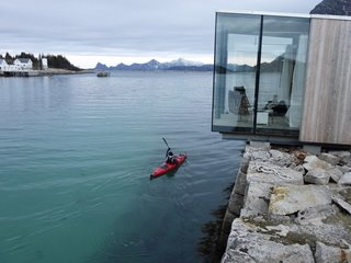 "Have You Ever Wanted to Stay in a Norwegian Sea Cabin? - Photo 2 of 8 - Stinessen placed each cabin strategically in order to ensure the best unobstructed views and the right amount of privacy. He points out, ""We wanted to emphasize the existing structures and landscape—and to do it without disturbing the stone quay or mountain."""