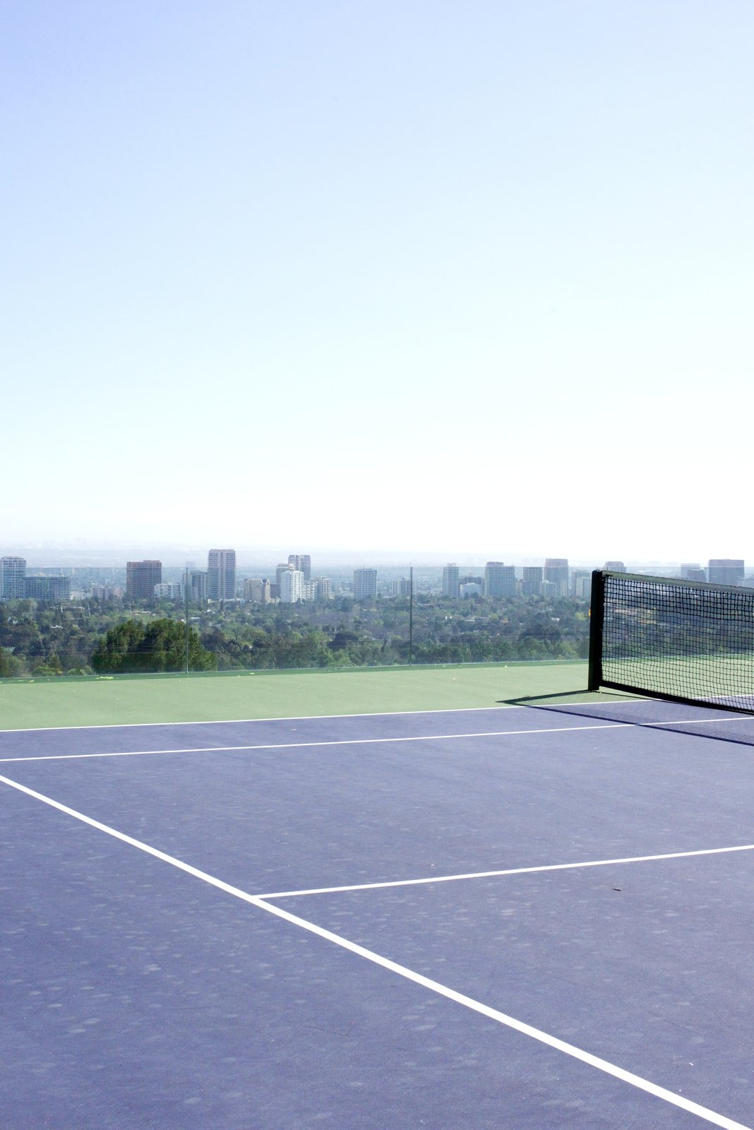 It holds L.A.'s only infinity tennis court.  Behind the Scenes at John Lautner's Sheats-Goldstein Residence by Paige Alexus