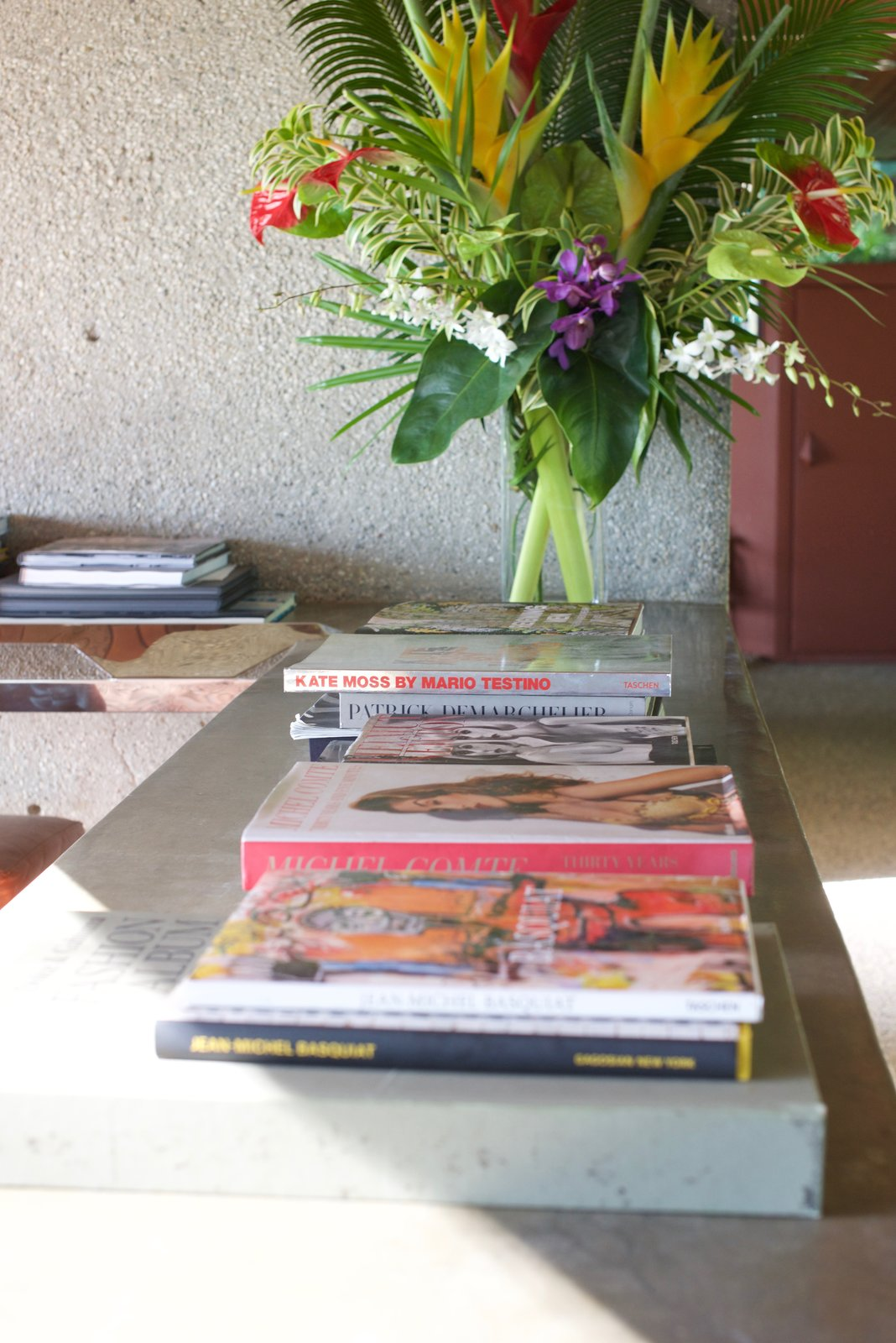 Goldstein's inspirations and experiences can be found throughout the house in photos, magazines, and books.  Behind the Scenes at John Lautner's Sheats-Goldstein Residence by Paige Alexus