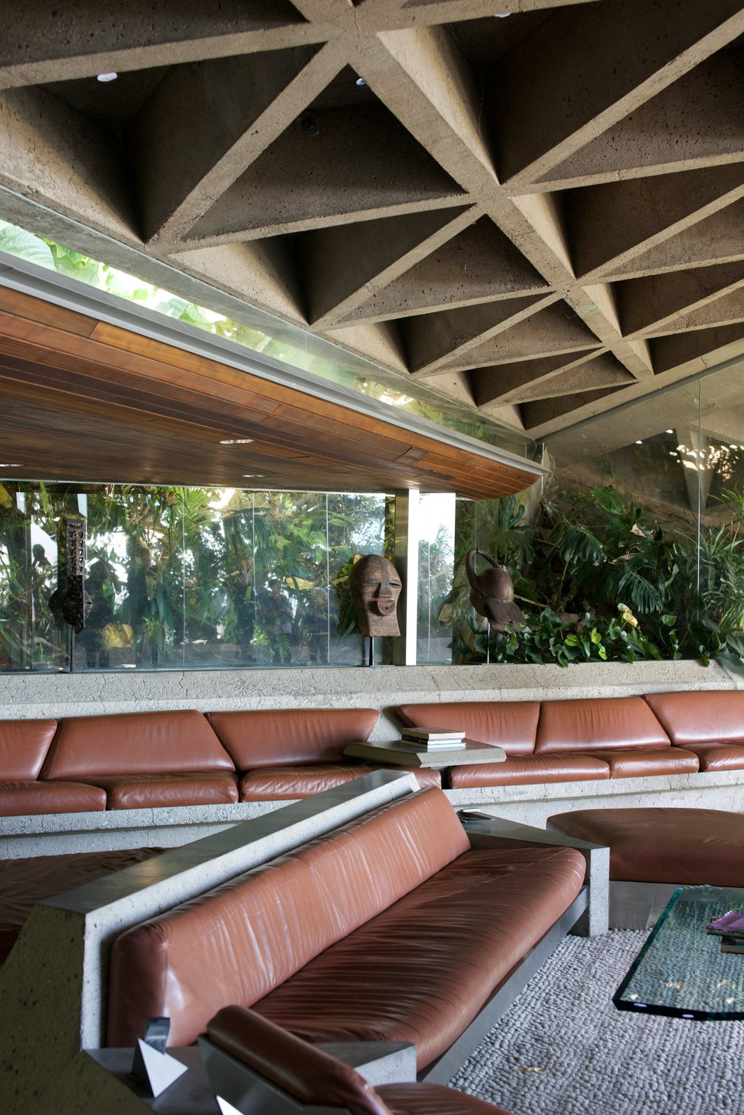 """The living room has become famously known as """"The Big Lebowski Living Room."""""""