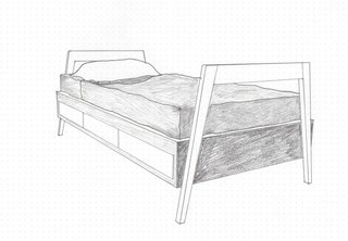 The Everyday Carry of an Architect: Jon Handley of Pulltab - Photo 1 of 3 - Jon Handley and Melissa Baker of Pulltab designed this twin-size children's bed with built-in storage in 2014.