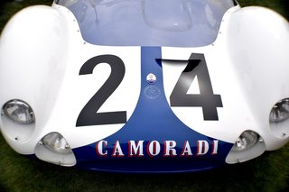 A Day at the Pebble Beach Concours d'Elegance Car Show - Photo 4 of 9 - Towards the end of 1958, Maserati developed this front-engined, 2-liter prototype Tipo 60 at a time when many race car designers were starting to lean towards rear-engined builds. In 1959, it was tested for the first time on the road between Modena and Verona, and went on to partake in multiple races. It retired at the end of 1963.