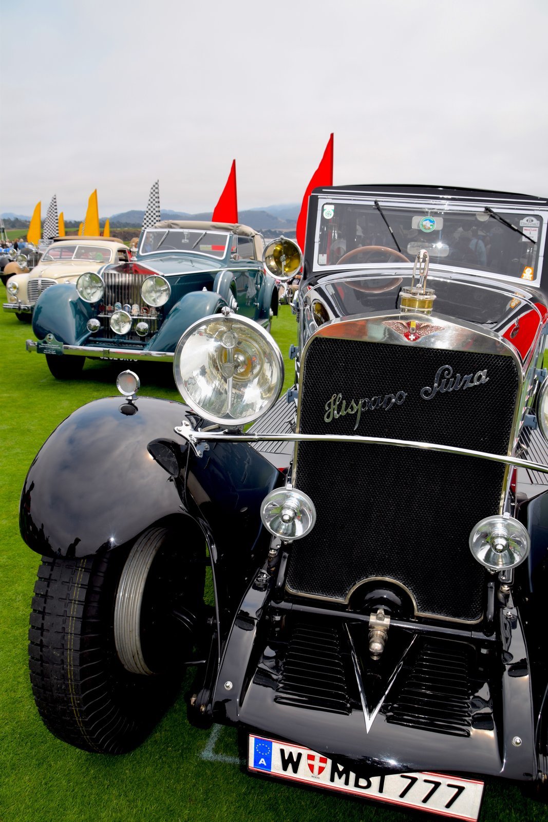 The 1926 Hispano-Suiza H6B Chapron Cabriolet was re-bodied in 1931 by Henri Chapron for the 1932 Paris Salon de l'Automobile and is thought to have been owned by the king of Tunisia. After being brought to the U.S. in the '50s by Alec Ulmann, it was sold to Joe Weider in NY, who owned it for 40 years.