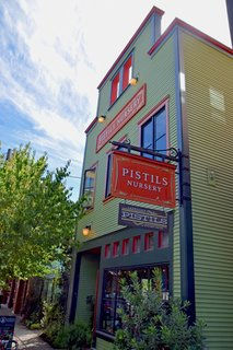 A Weekend in Portland: Part II - Photo 2 of 10 - The red and green facade of Pistils Nursery stands proud in the heart of the Mississippi District. It's filled with indoor and outdoor plants and nature-inspired goods.