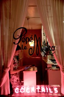 A Weekend in Portland: Part II - Photo 9 of 10 - The entrance to Pépé le Moko is mysterious, and welcomes you with a bright pink fluorescent sign. Once you check-in up front, you're led downstairs to the tightly-packed, cozy space.