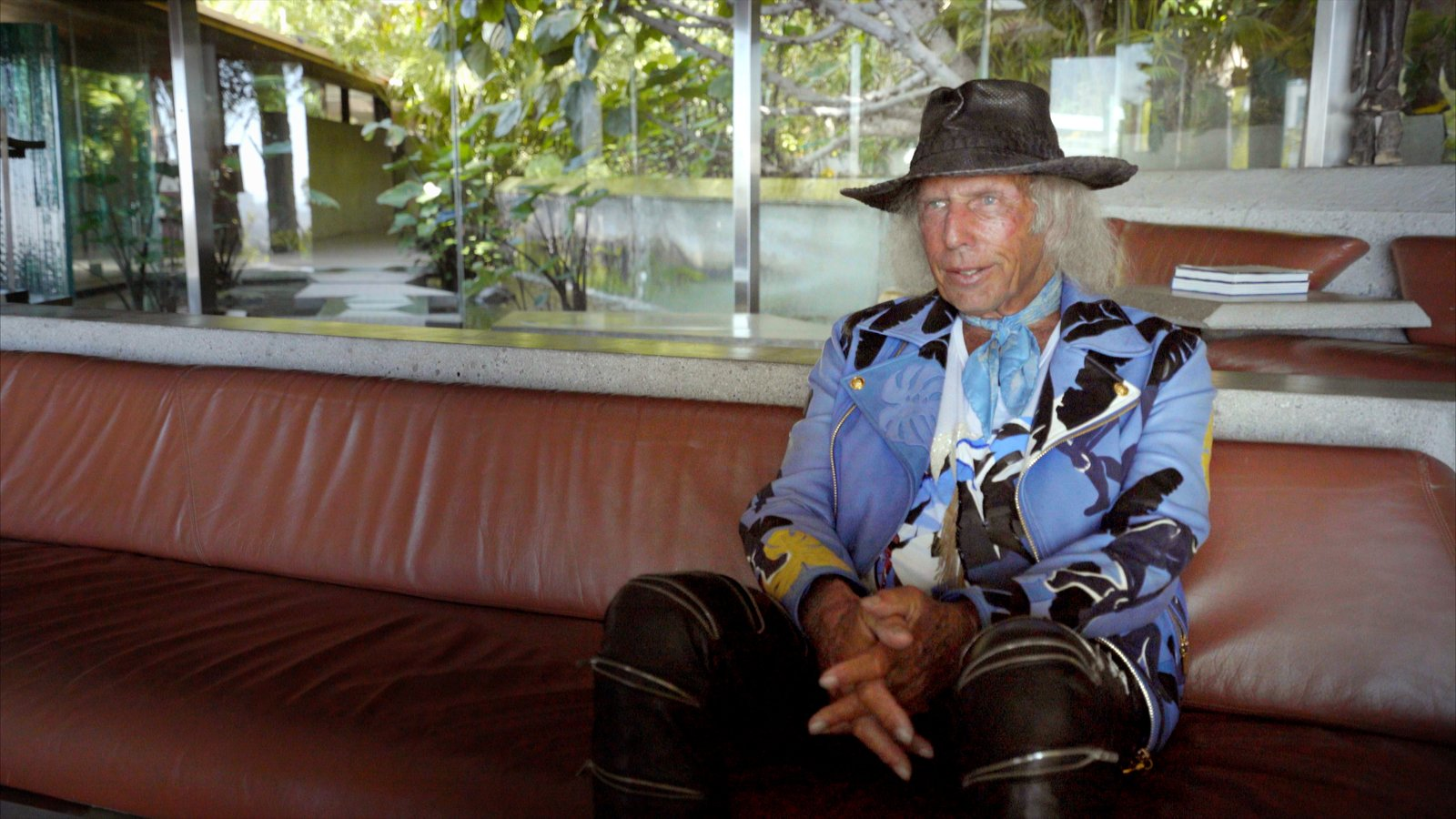James Goldstein on his custom designed sofas. #johnlautner #garcia #house #iconichouses Behind the Scenes at John Lautner's Sheats-Goldstein Residence by Paige Alexus