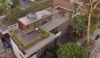 From 1932 to the Present Day—Watch How Technology Continues to Progress in This Iconic L.A. House - Photo 7 of 7 - This overhead view of the VDL residence shows the top level that holds the water pools, garden, rooftop, and the glass-enclosed seating area where Mrs. Neutra would encourage guests to spend time in.