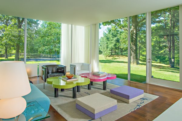 Shown here is the living space that can be found in the guest house.