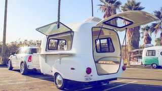This California–Made Camper Is All You Need to Get Your Adventures Going - Photo 5 of 7 - You'll notice the design includes vintage-inspired teardrop rear side markers.