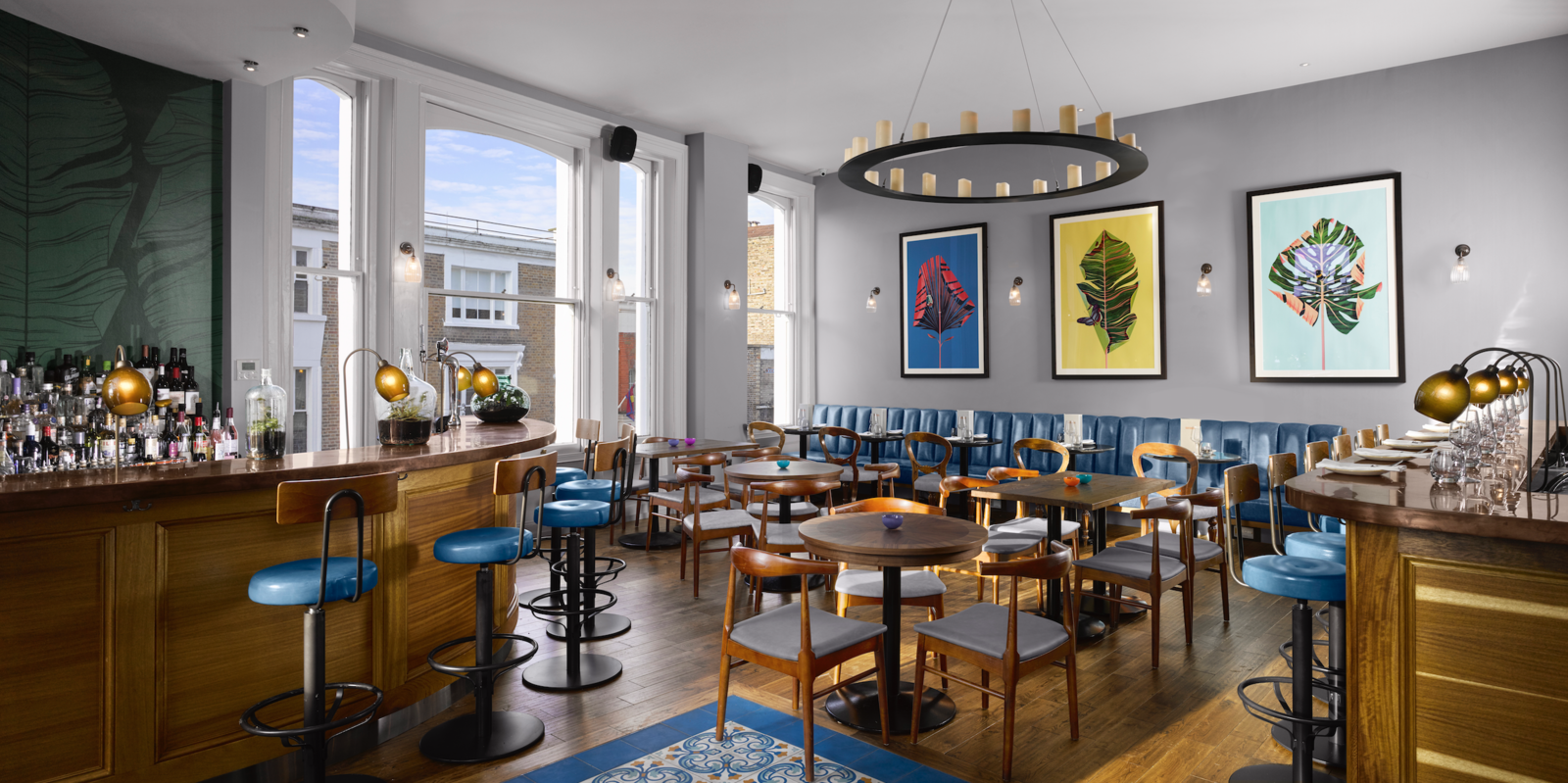 When you visit The Distillery, you'll find GinTonica on the first floor, a Spanish-inspired bar and kitchen that celebrates Spain's connection to juniper. You can try a number of different experimental takes on the Gin and Tonic, which is served in a traditional Copa de Balón—a balloon goblet glass. Gin Enthusiasts Will Be Flocking to This New London Hotel - Photo 3 of 7