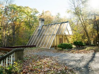 "The One-of-a-Kind Home of the Late Architect John Black Lee Drops to $750K - Photo 3 of 10 - Black was said to have mentioned, ""This house is the only one in New Canaan that you enter through a skylight."""