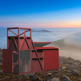 A Design Competition Unveils a Pop-Up Hotel Concept That's Soon to Hit the Welsh Countryside - Photo 6 of 8 - How About Studio's Miners Hut