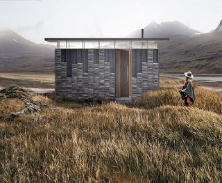 A Design Competition Unveils a Pop-Up Hotel Concept That's Soon to Hit the Welsh Countryside - Photo 4 of 8 - TRIAS' Slate Cabin