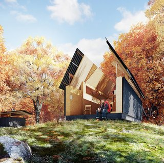 A Design Competition Unveils a Pop-Up Hotel Concept That's Soon to Hit the Welsh Countryside - Photo 3 of 8 - Waind Gohil + Potter's SKYHUT