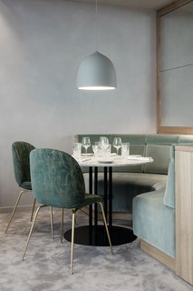 The Revived Maison du Danemark Brings Two New Danish Restaurants to Paris - Photo 4 of 9 - GUBI's Beetle Chairs are used throughout the space and are upholstered with various textiles that represent both Nordic and Art Deco influences.