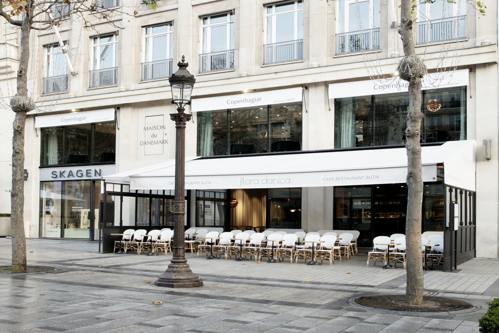 Maison du Danemark sits in Paris' eighth arrondissement and acts as a host to cultural events, gatherings, exhibitions—and most recently seen the addition of two new restaurants designed by GamFratesi.  Photo 2 of 10 in The Revived Maison du Danemark Brings Two New Danish Restaurants to Paris