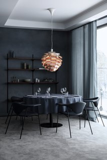 The Revived Maison du Danemark Brings Two New Danish Restaurants to Paris - Photo 9 of 9 - Also part of GUBI's furniture collection are the dining chairs, which are four-legged metal versions of their original Masculo Collection. This variation allows for a more comfortable, lighter seating option than the original.