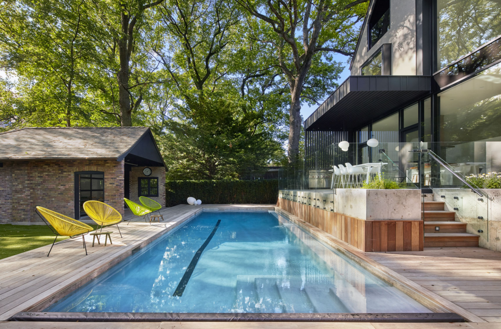 Photo 1 of 4 in From Front to Back, This Toronto Home Literally Merges Heritage and Modernism