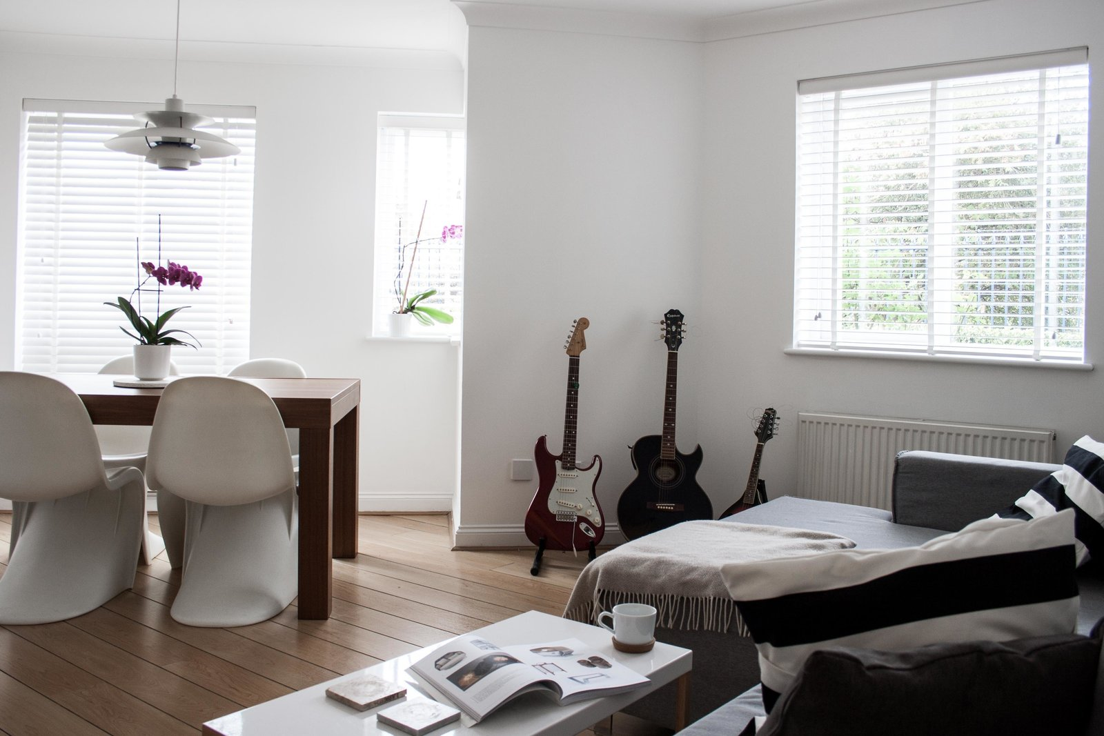 Photo 1 of 8 in Two Architects Revive Their London Flat With Minimal Furnishings and a Fresh Dose of White