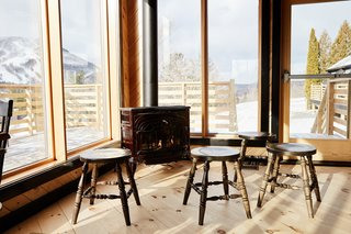 A Modern Mountain Lodge That Will Make You Love Winter Like Never Before - Photo 10 of 13 - The restaurant looks out to 270-degree views of the Catskill Mountains and takes in ample natural light.