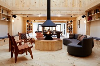 A Modern Mountain Lodge That Will Make You Love Winter Like Never Before - Photo 13 of 13 - You'll also find a 1,850-square-foot library lounge that can be used as an event space if desired.