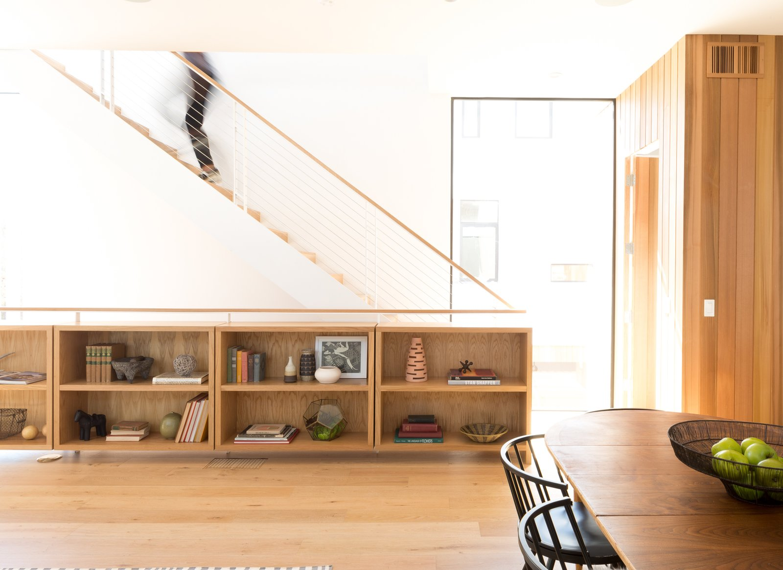Along with seven-inch white oak plank wood floors, the interiors feature custom built-in woodwork and cabinetry.  Photo 3 of 4 in A Small Development in Los Feliz Offers Scandinavian-Inspired Urban Living