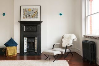 A Fusion of Old and New Makes this Home For Sale Shine on London's Womersley Road - Photo 8 of 8 - This bedroom shows another example of how they preserved certain characteristic elements, including an original fireplace and radiators.