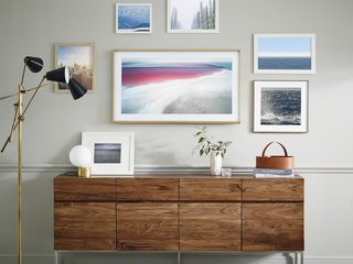 The Frame by Yves Behar for Samsung - Photo 1 of 4 - Rather than allowing your TV to take up valuable wall space while not in use, you can now bring a multifunctional and inspirational art gallery into your home.