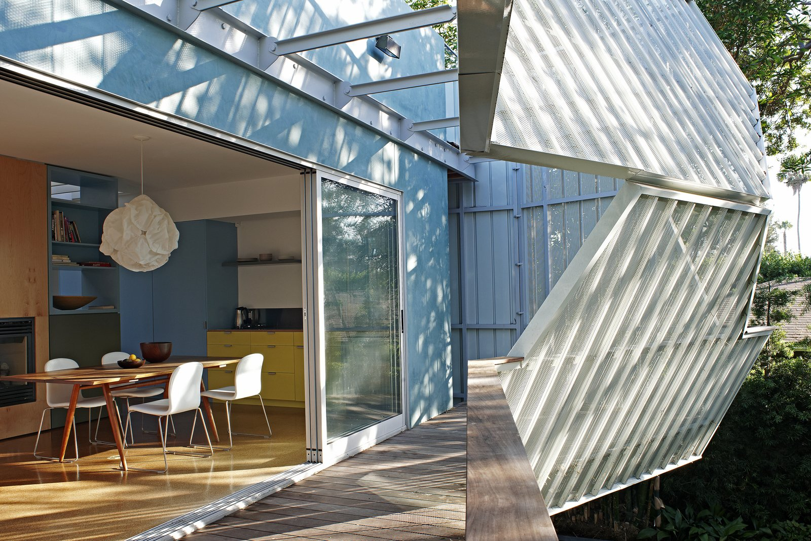 Photo 5 of 10 in A Perforated Screen Brings Privacy and Natural Light to This Bold Venice Home