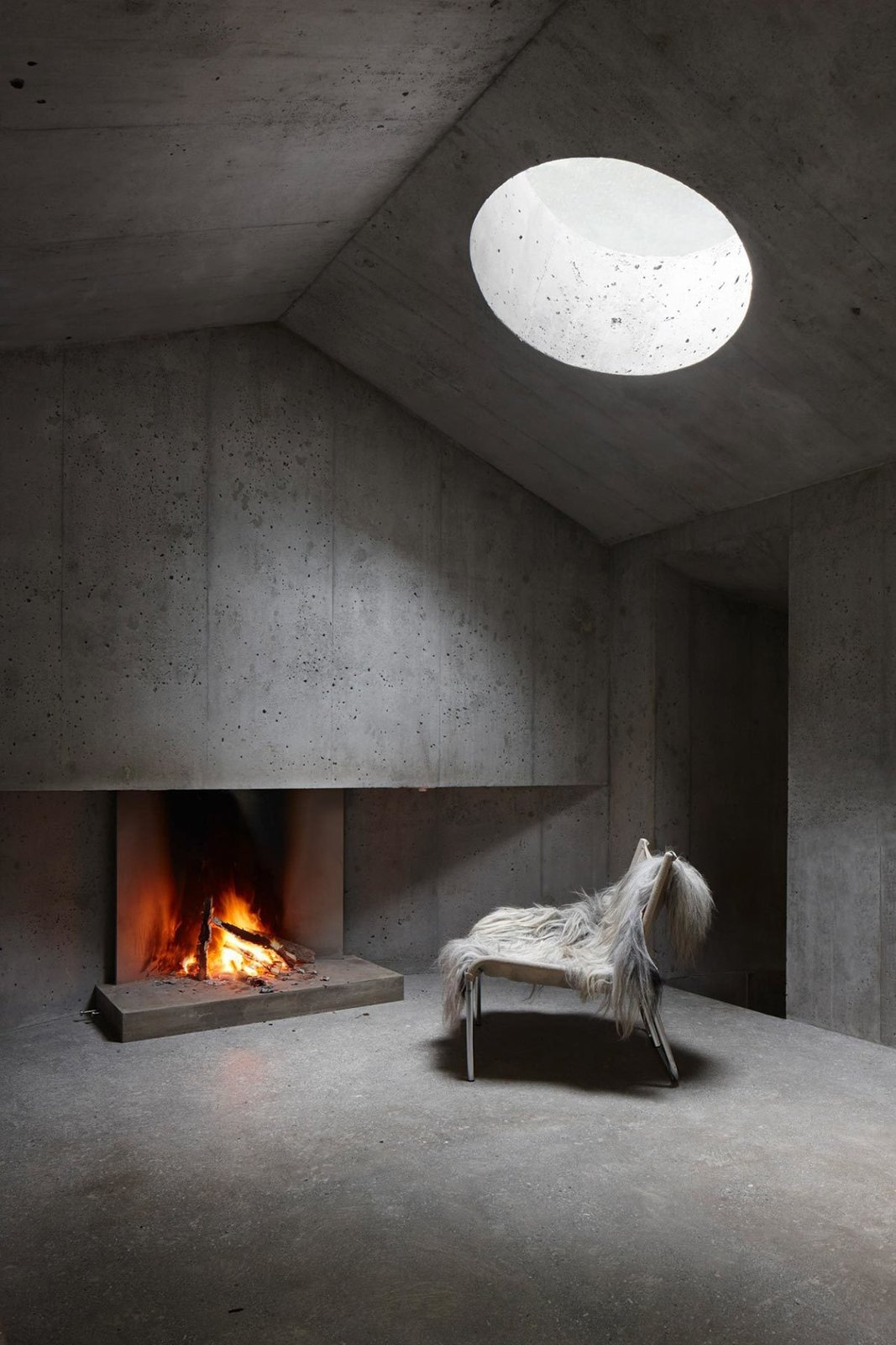 Concrete Shelter in the Image of a Cabin  Brutal Beauty by Gessato