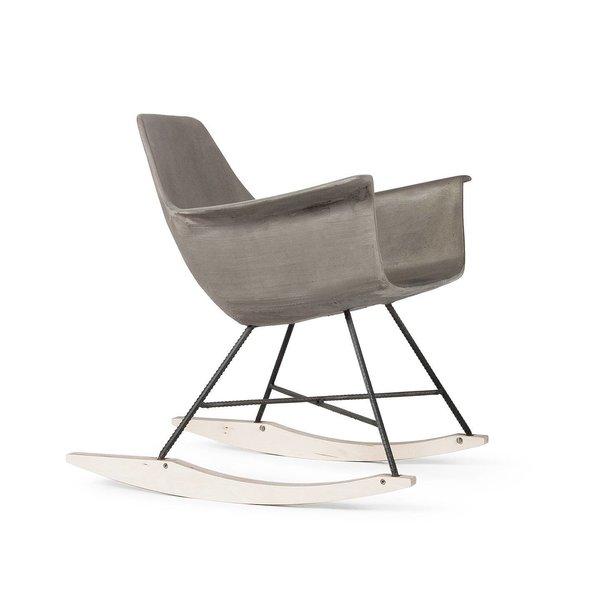 Hauteville Concrete Rocking Chair  Brutal Beauty by Gessato