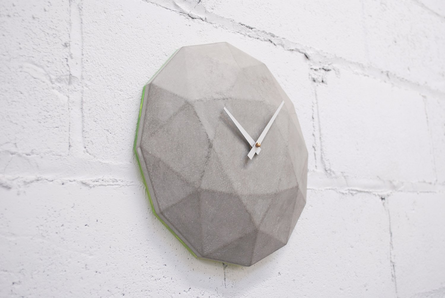 Cairo Star Cut Concrete Clock  Brutal Beauty