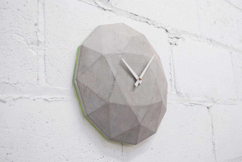 Cairo Star Cut Concrete Clock Brutal Beauty by Gessato