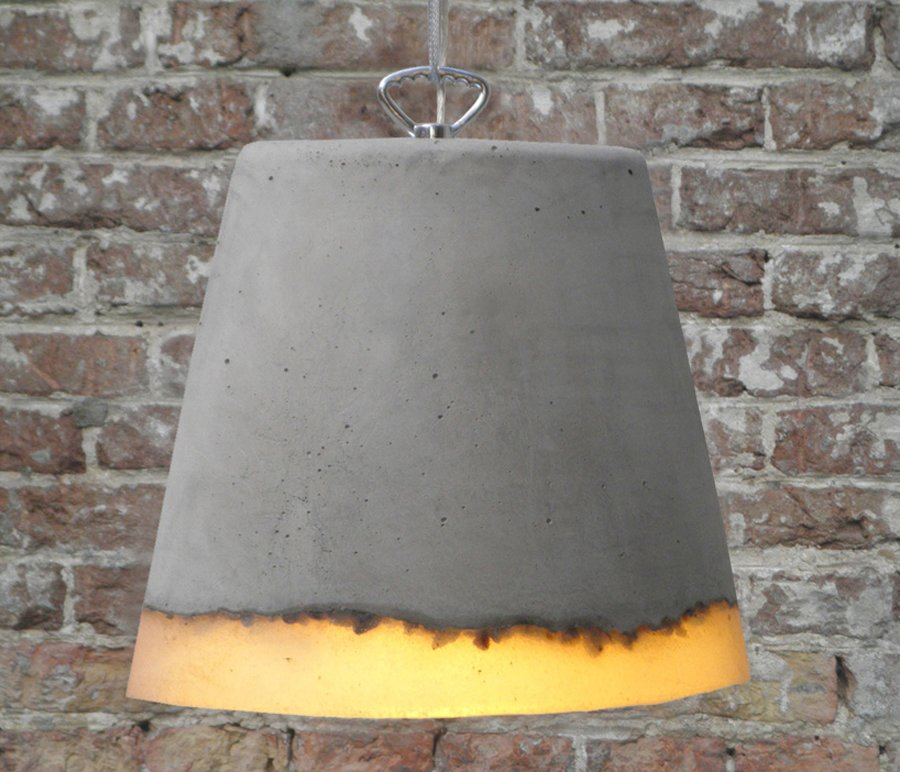 Concrete Hanging Lamps by Renate Vos Brutal Beauty by Gessato