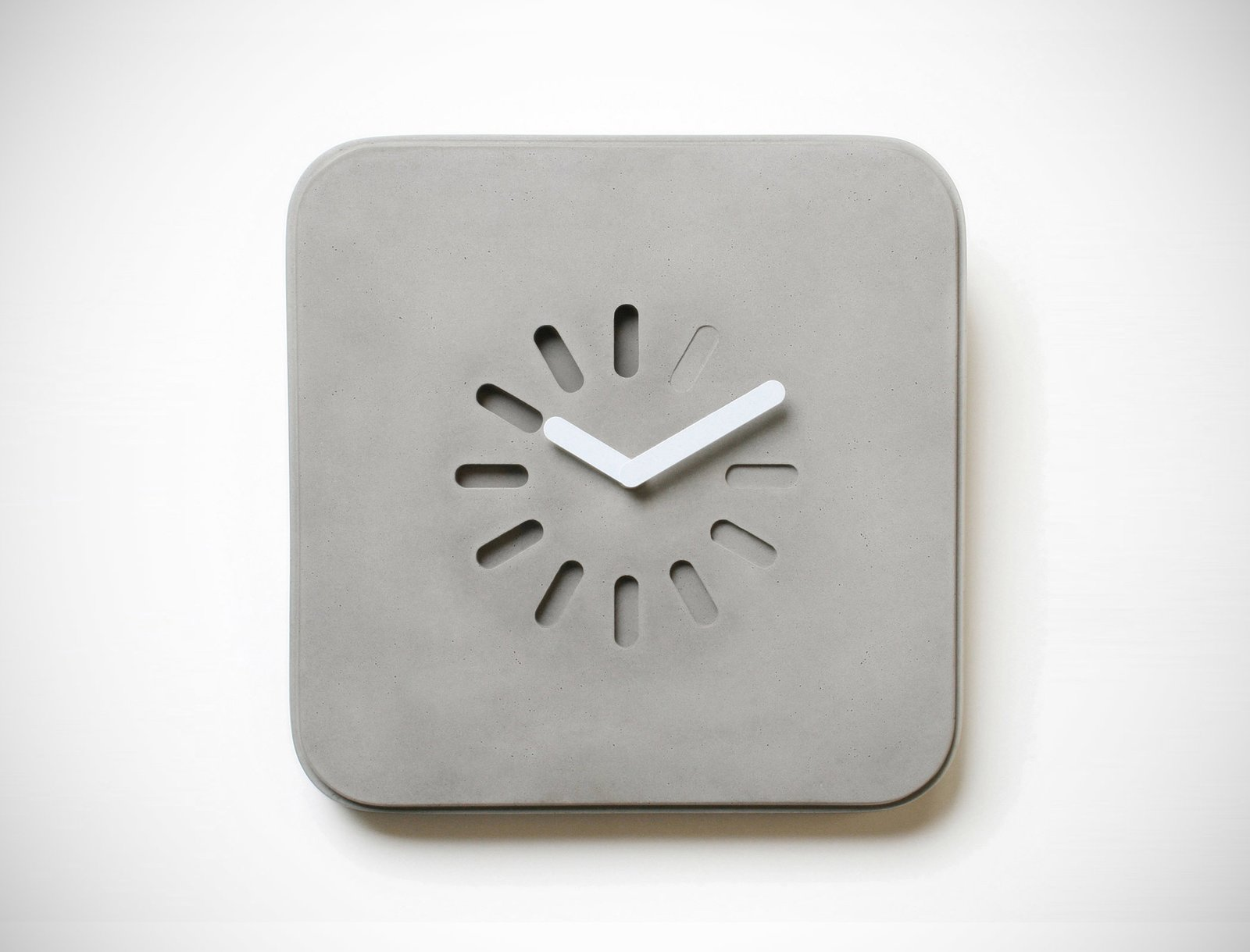 Life in Progress Concrete Clock  Brutal Beauty by Gessato