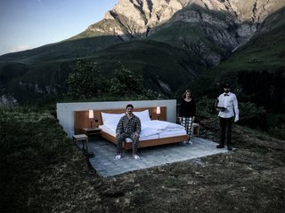 An Open Air Hotel Room in the Swiss Alps - Photo 3 of 3 -