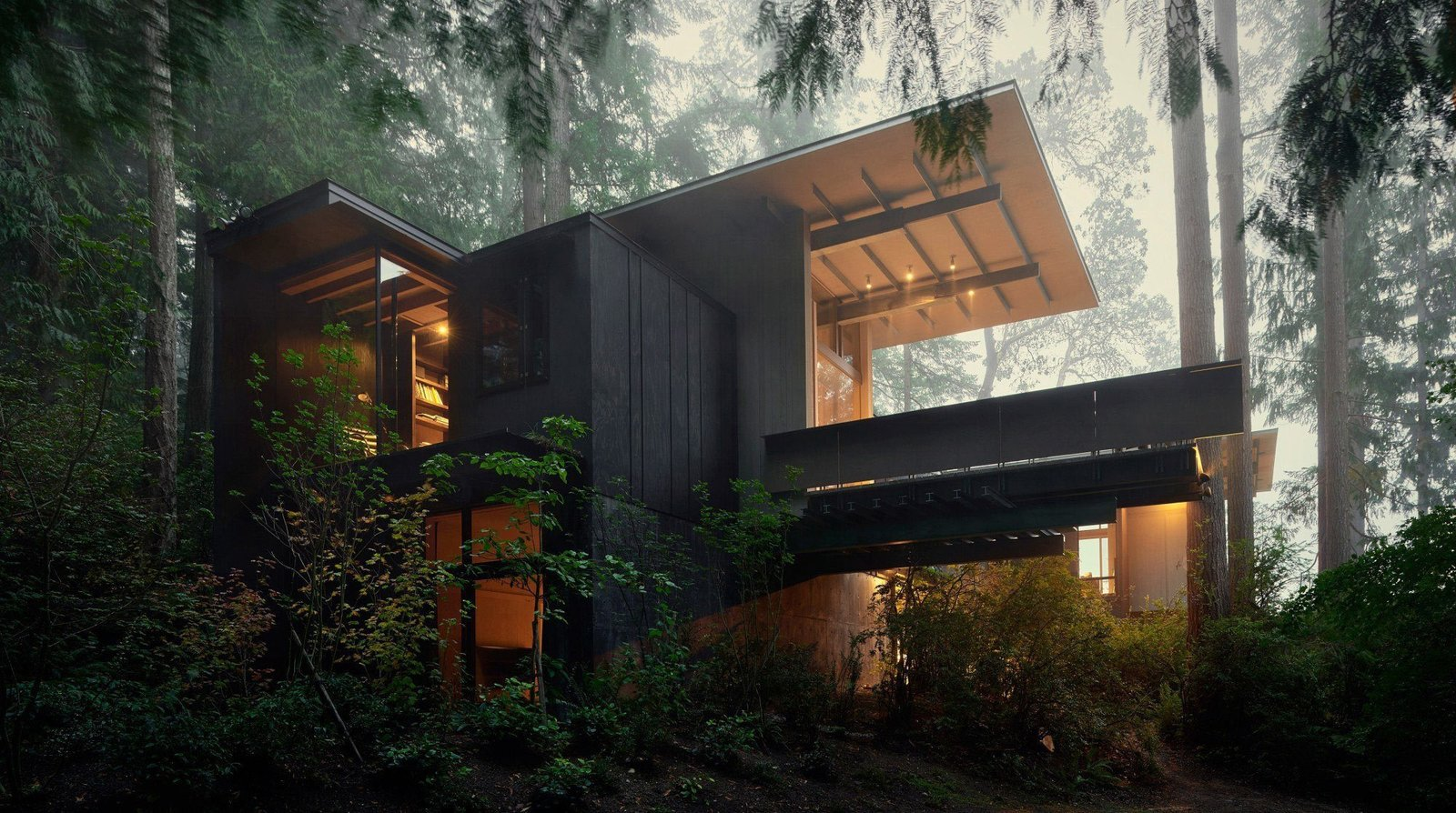 Jim Olson's #cabin at Longbranch Washington #olsonkundig  Cabin by DAVE MORIN from Small and Quiet