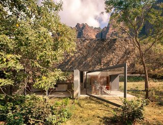 10 Retreats in Mexico For the Modernists Who Love the Outdoors - Photo 4 of 10 - This retreat for two by Mexican architecture group EDAA flawlessly meshes with its surroundings in an elegant response to the landscape formed by native Tepoztecos over 500 years ago.
