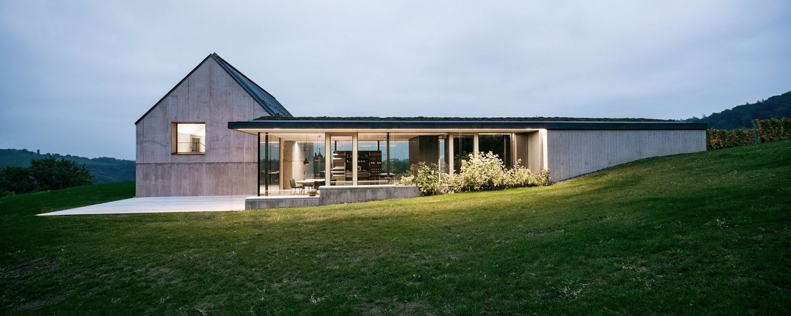 Photo 1 of 15 in A Former Wine Press House Becomes a Modern Vineyard Home