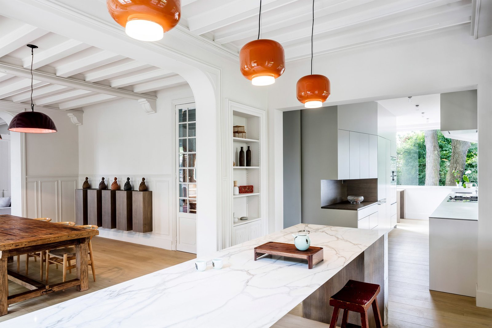 05 AM Arquitectura, 19th-century house in France   Kitchen Love by Gessato