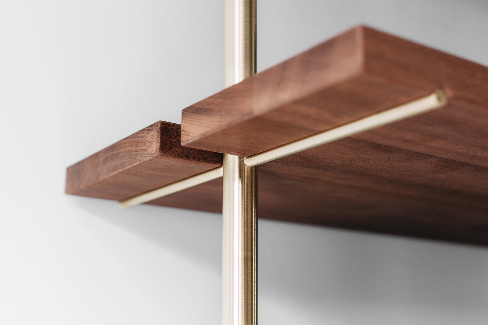 Brass Rail Shelving By Gessato Dwell