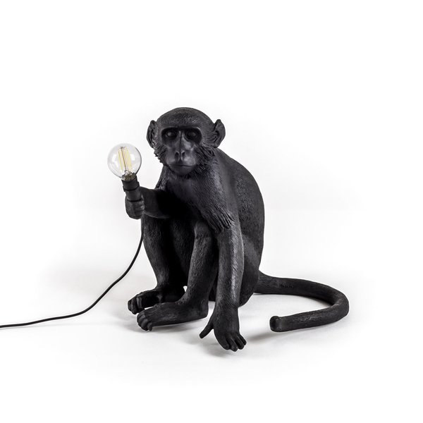 Seletti Outdoor Monkey Lamp, Sitting