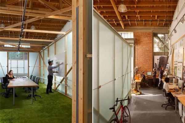#architectsstudio #office #officespace #meetingroom #conferenceroom #exposedbeams Photo 3 of Architect's Studio modern home