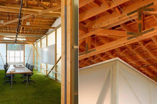 #architectsstudio #office #officespace #meetingroom #conferenceroom #exposedbeams Photo 10 of Architect's Studio modern home